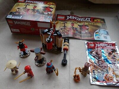 GREAT CONDITION LEGO NINJAGO SET 70680 MONASTERY TRAINING & PYRO WHIPPER BOX +IN