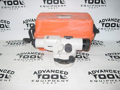 Nikon As-2 34x Autolevel Automatic Auto Builders Level Transit W Carrying Case