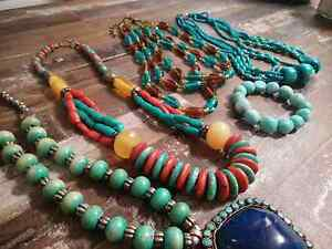 Beautiful solid beaded necklaces and bracelet Maryland Newcastle Area Preview