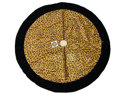 48 In Black Gold Leopard Christmas Tree Skirt