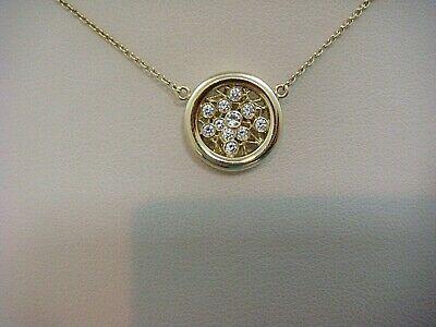 18 KT YELLOW GOLD BEZEL SET DIAMONDS 2D DESIGNER NECKLACE, 17
