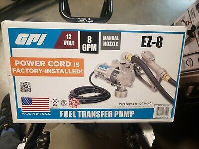 Gpi 137100-01 Ez-8 12v 8 Gpm Fuel Transfer Pump