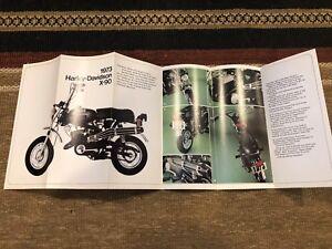 1973 HARLEY AERMACCHI  X 90CC  PAMPHLET   AMF N. O. S.