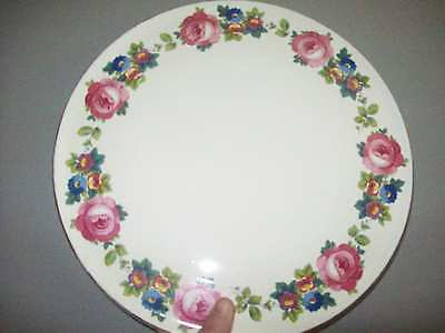 Vntg Royal Tudor Ware by Barker Bros.Ltd. England Rose Transfer Cake Plate