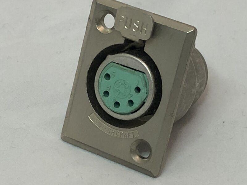 Switchcraft D5F 5-pin panel-mount female socket audio electronics Fender Rhodes+