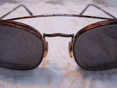 b32ffd00f2f3 Vintage Giorgio Armani 169 808 Red Tortuga W  Clip On Sunglasses Original  Case