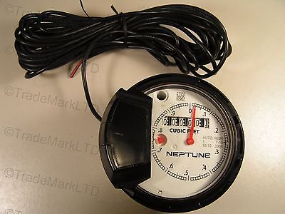 Neptune Register 1 T-10 For Water Meter Cubic Feet Auto H65n New
