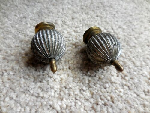 """Matched Pair of Antique Clock or Furniture Finials, 2"""" tall x 1"""" wide + screw"""