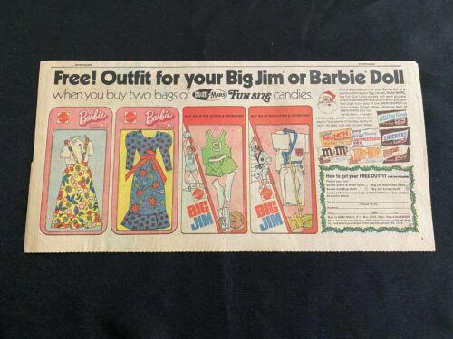 #10 BARBIE & BIG JIM Sunday Third Page Comic Strip Mattel  Advertisement 1973