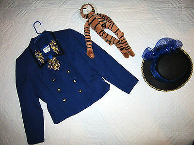 CIRCUS ringmaster blue jacket COSTUME size 8 P cosplay fantasy hat Mardi - Mardi Gra Costumes Female