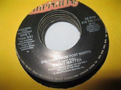 KATHY MATTEA LOT OF 9 RADIO STATION 45 RPM RECORDS, PROMOS