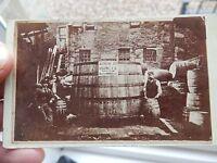 Amazing Genuine Whisky Beer Coopers Yard Dundee 1870s 2000 Gallon Barrrel Cdv -  - ebay.co.uk