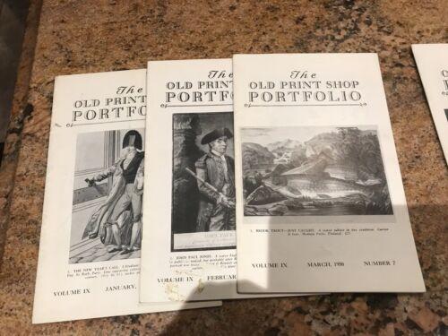 RARE LOT 9 1950 THE OLD PRINT SHOP PORTFOLIO Catalog New York NYC