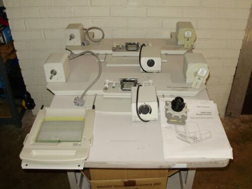 1 LOT- MINOLTA/BELL & HOWELL MICROFILM/MICROFICHE CARRIERS/ROLL CARRIER12 & LENS