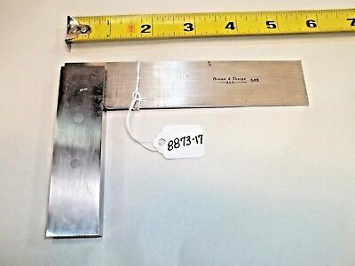 Brown Sharpe No. 540 4-12 Machinist Toolmaker Square Usa