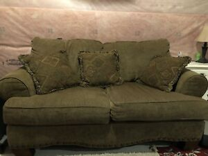 Love seat and armchair