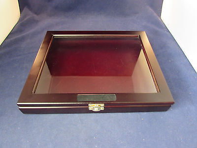 "Shadowbox Display Frame / Hanging Case Collectible Curio Box 12"" X 10"" X 1-5/8"""