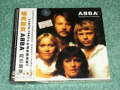 NEW SEALED ABBA THE DEFINITIVE COLLECTION 2 CD SET SONY 2001 853-346 HONG KONG