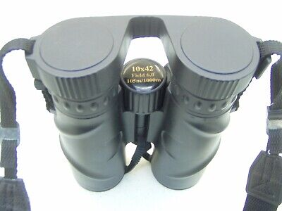 SUMMIT 10X42 BINOCULARS WATERPROOF & NITROGEN FILLED CLOUR BLACK C/W NECK STRAP