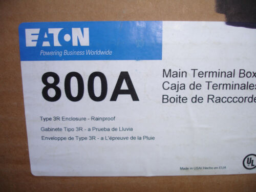 NEW Eaton 800A 800 Amp Meter Module Main Terminal Panel Box 1P  1MTB800R  NIB