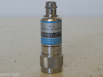 Hewlett Packard Coaxial Crystal Detector Model Hp 423a W3c