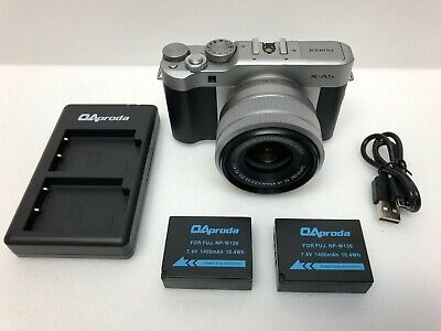 Fujifilm - X Series X-A5 Mirrorless Camera with 15-45mm Lens - Silver