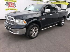 2015 Ram 1500 Laramie, Quad Cab, Navi, Leather, Diesel, 4x4