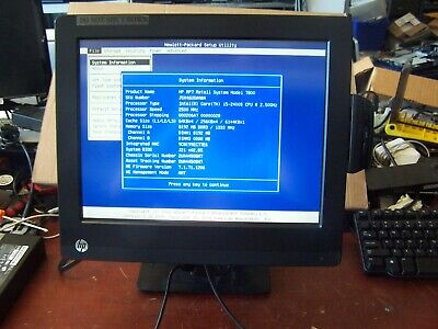 Hp Rp7 7800 Retail Pos System 15 Touchscreen I5 2.5ghz 8gb Removed Hard Driv