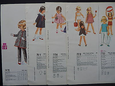 McCalls, 1966 Counter Catalog, Children & Babies Fashion 4 Double-Sided Pages #2 - Childrens Costume Catalog