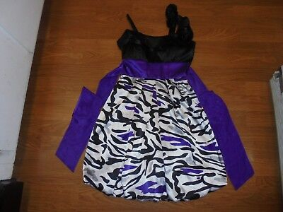 City Triangles black, purple, white animal print party summer dress size 1 (Party City Summer)