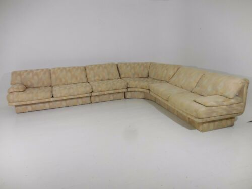 Monumental Bernhardt 4pc Curved Sectional Sofa Mid Century Modern Baughman Era