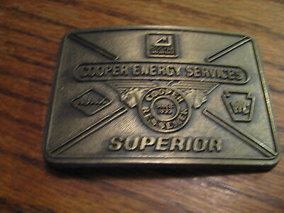 Cooper Energy Services Superior Belt Buckle   Flat Gs
