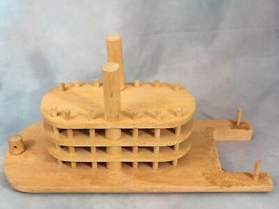 Wooden Riverboat Model 4 Decks Possible Handmade Light Wood