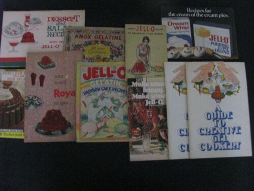 LOT 10 VTG KNOX GELATINE JELLO ROYAL COOKBOOKS RECIPES RAINBOW CAKE DREAM WHIP