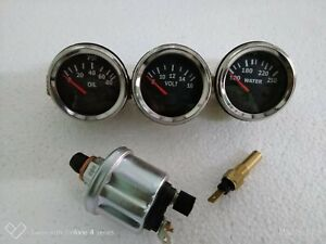 electrical gauges set- volt gauge temp gauge oil pressure gauge with sender