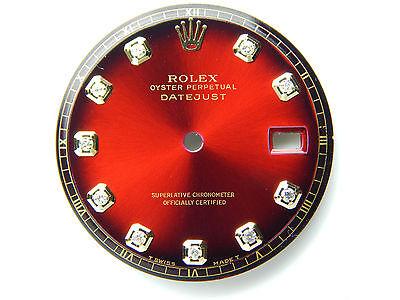 2 Tone Pan - Men's Rolex Datejust 2Tone red vignette Non-Quickset Pie Pan 1601 With Diamonds