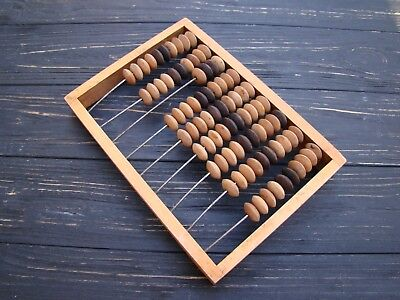 Vintage Wooden Abacus Old USSR School Calculator Russian Abacus Back to school