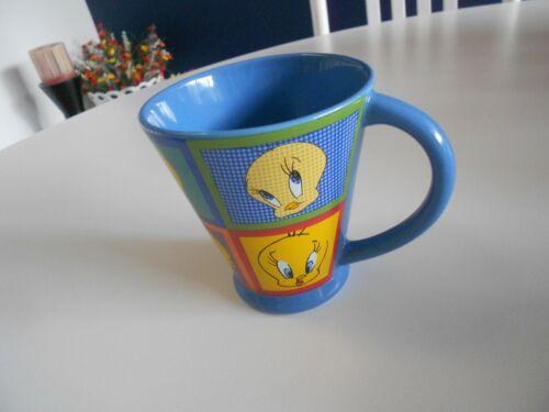 """tweety bird warner bros studio store mug 1999 issue vg++ condition 4"""" high"""