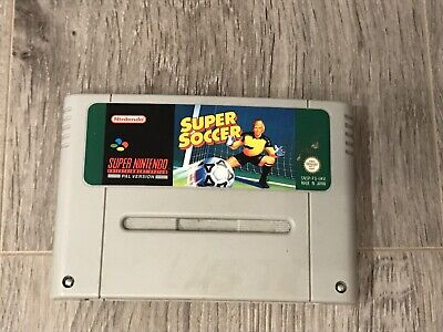 Super Soccer Super Nintendo SNES Game - PAL for sale  Shipping to South Africa