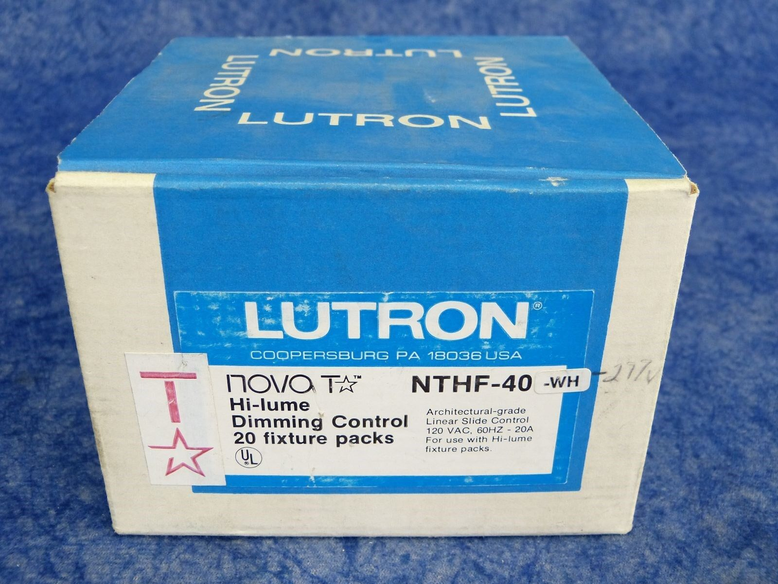 Lutron NovaT / NTHF-40-WH Hi-Lume Dimming Control - White