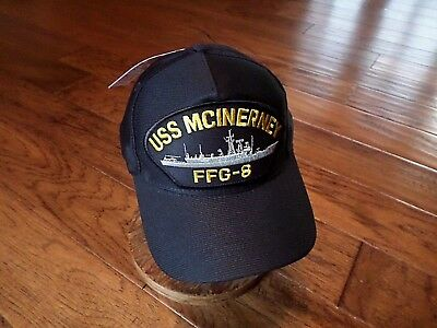 USS MCINERNEY FFG-8 NAVY SHIP HAT U.S MILITARY OFFICIAL BALL CAP U.S.A MADE