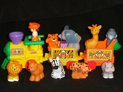 FISHER-PRICE LITTLE PEOPLE SAFARI TRAIN WITH SOUNDS & EXTRA  ANIMALS