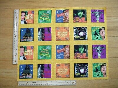 Wizard of Oz Halloween Dorothy  Cotton Quilt Fabric Panel Blocks (20) VERY RARE!