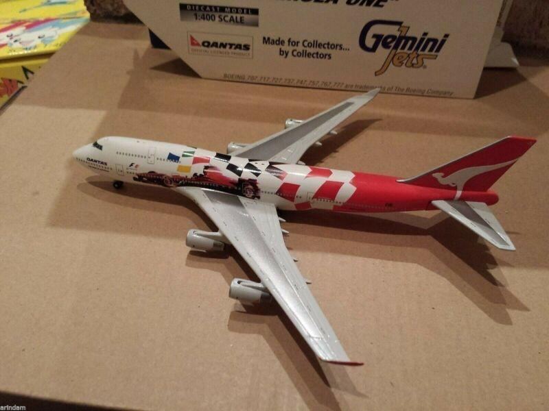 Gemini Jets Qantas Airways B 747-438 1:400 GJQFA083 Formula 1 Cols VH-OJC