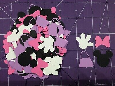 160 Disney Minnie Mouse Die Cuts, Confetti, Scrapbooking, Parties](Minnie Mouse Confetti)