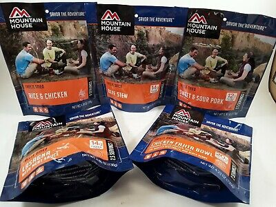 MOUNTAIN HOUSE 5-PACK Freeze Dried Food Emergency Survivor Meals - Freeze Dried Meals