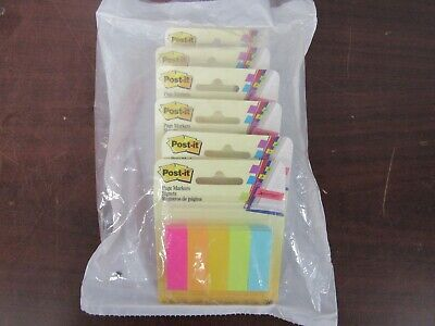 Post-it Page Markers Assorted Colors Lot Of 6  24b