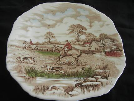 ALFRED MEAKIN - THE CHASE  - CAKE PLATE - 22CMS & Old cake plates $10 the lot | Other Antiques Art u0026 Collectables ...
