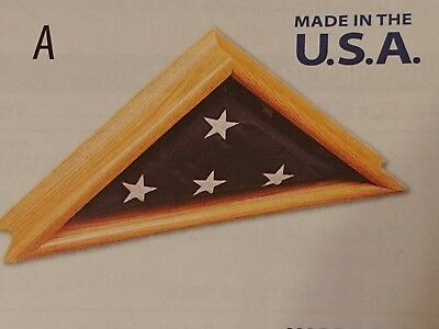 Triangle Flag Case (BRAND NEW BEST QUALITY WOODEN TRIANGLE FOLDED FLAG CASE MEMORIAL)