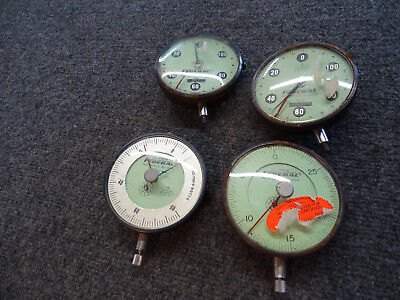 4 Mahr Federal Series E E5g Dial Indicator 3.625 Dia. W Soft-green Tint .075